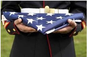 soldier w flag